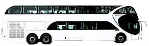 Buses piso simple y doble